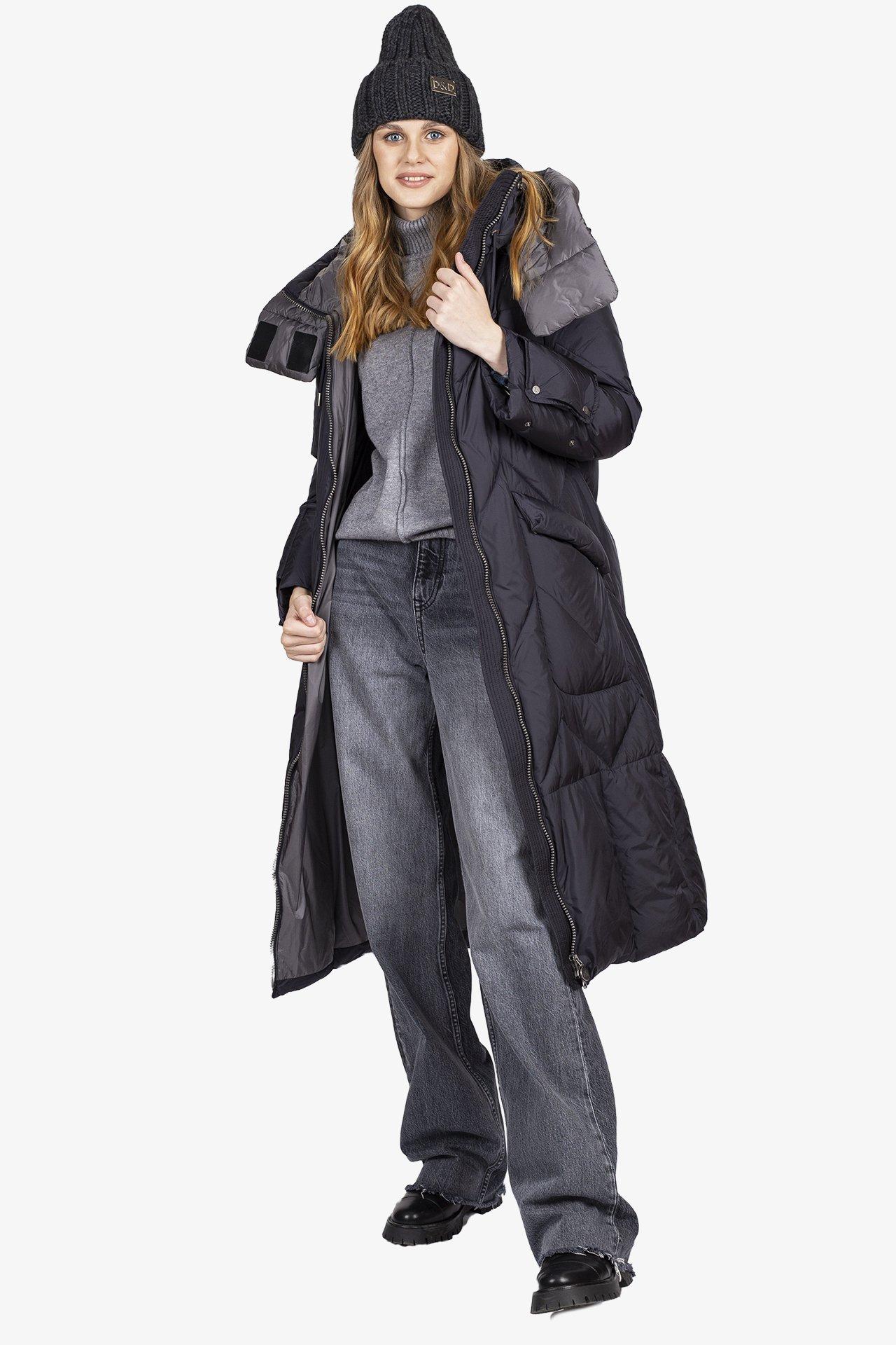 Пальто женское 2636-1-0921 `Gebur` черный