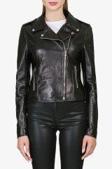 Куртка кожаная женская S04-0520 `Cafe Jubilee` черный